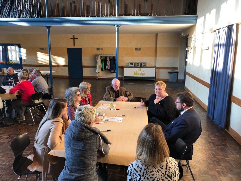 Gemeinsames Nachdenken und Planen in der Gruppe am Tisch