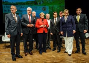 Bundeskanzlerin Angela Merkel auf Besuch im Congress Centrum Heidenheim beim Ehrenamtstag
