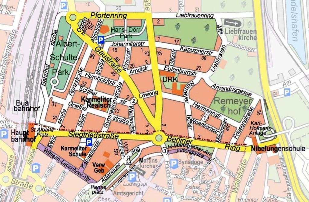Stadtplan-Quartier