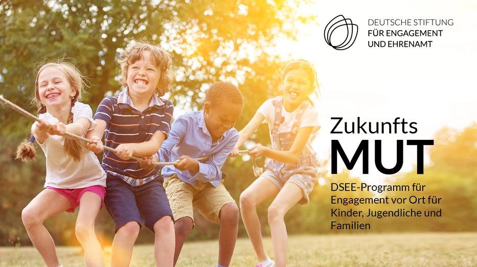 Kampagnenbild zum Förderprogramm ZukunftsMUT der DSEE