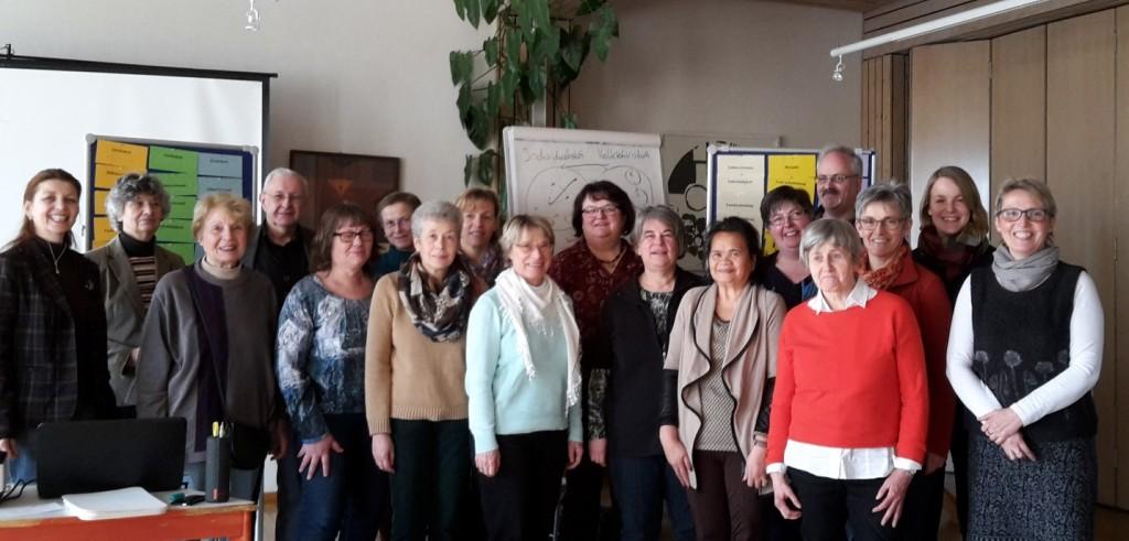 die Gruppe beim interkulturellen workshop